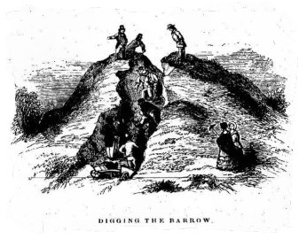 Digging barrows in 1854
