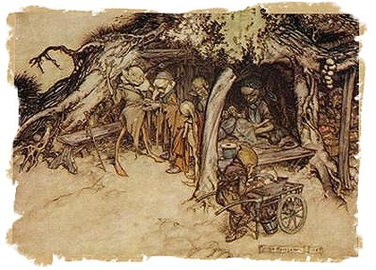 'The Fairy Tailor's Workshop' - Arthur Rackham