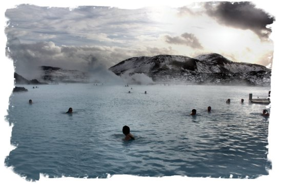 Iceland - Blue Lagoon on a snow stormy day ©vcsinden2012