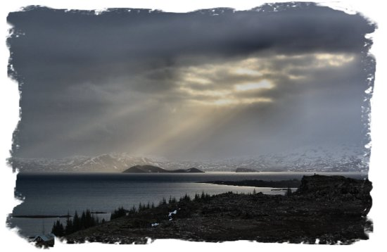 Iceland - sun through the clouds at Þingvellir ©vcsinden2012