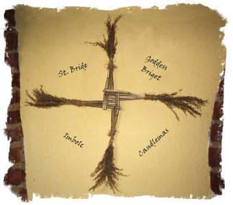 Bridget's Cross made at Imbolc with reeds ©vcsinden2012
