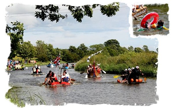 Bonnington, Romney Marsh, Kent -  Raft Race June 2012