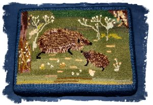 hedgehog embroidered church kneeler ©vcsinden2013