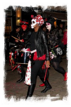 Drummers in the Hastings Bonfire Society parade October ©vcsinden2012