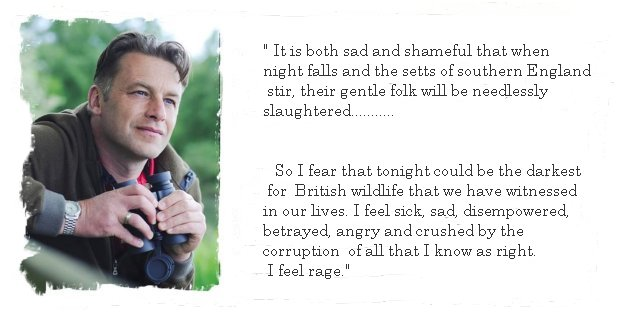 Stop the Badger Cull - Chris Packham has his say