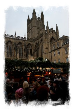 Bath Abbey and Christmas Market ©vcsinden2012