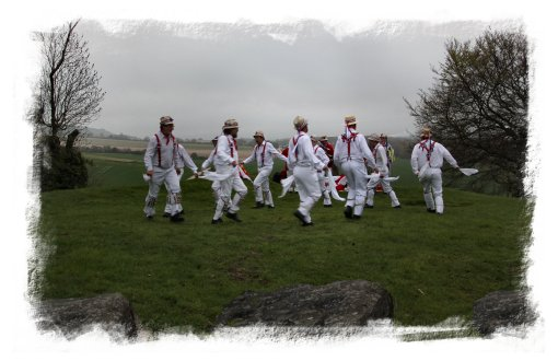Hartley Morris Men dancing the sun-up on May Morning at Coldrum, Kent ©vcsinden2013