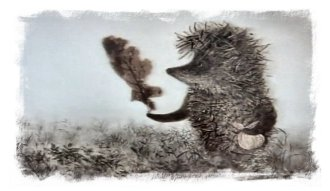 'The Hedgehog in the Fog' illustration by Franchesca Yarbusova