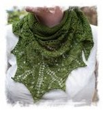 Hand knit shawl © Carisa Chang at Ravelry