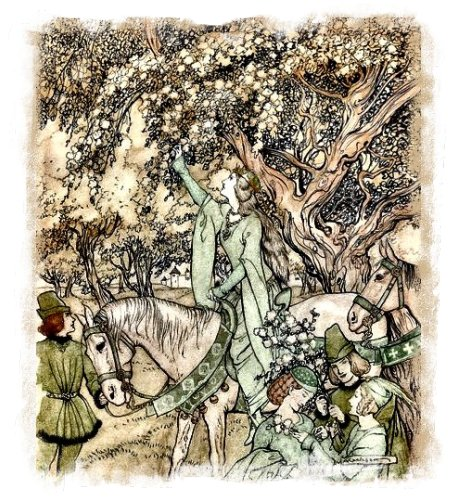 'The Maying' Arthur Rackham