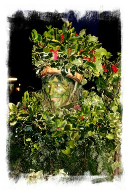 Twelfth Night - the holly decked Green Man begins the festivities ©vcsinden2013