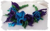Handfelted necklace by Anna Wegg on Etsy