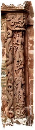 Carvings on the great arched door of Kilpeck Church, Herefordshire ©vcsinden2014