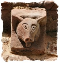 Pig corbel at Kilpeck Church, Herefordshire ©vcsinden2014