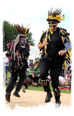 Ely Folk Festival -a modern day woodwose from Poachers Morris ©vcsinden2016