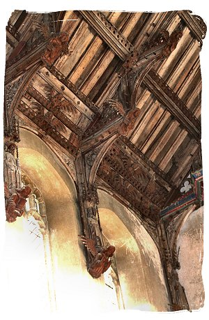 Woolpit, Suffolk – St Marys Church - angel hammerbeam roof ©vcsinden2016