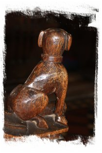 Woolpit, Suffolk –pew end carving 15th century oak ©vcsinden2016