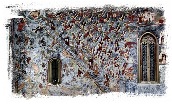 Painted Monasteries of Romania - Sucevita - ladder of St. John ©vcsinden2016
