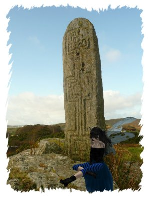 The first stone of the Tras in Glencolmcille, Ireland. Nature, folklore, fairies and magic - all together here