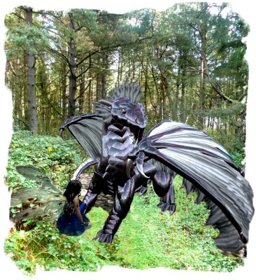 Muddypond Green talking to the Storm Dragon in Hurst Wood, Charing