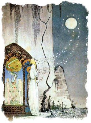 Pop-out flew the Moon - Kay Nielsen