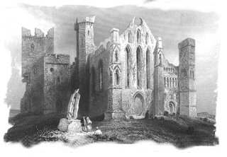 Cashel Rock ruins - old print