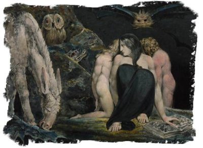 The Night of Enitharmon's Joy (formerly called `Hecate')  by William Blake