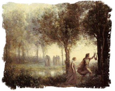 Painting of Orpheus by Jean-Baptiste-Camille Corot