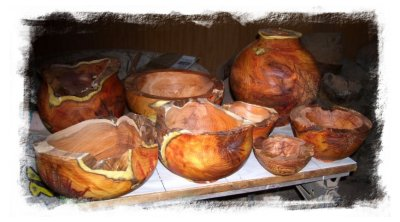 yew wood bowls - magnificent - by Ben McLellan at One Stop Wood