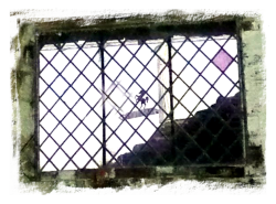 lattice window of the forgotten chapel