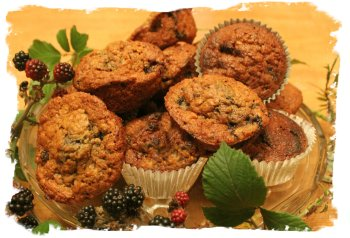 Blackberry Buns or Muffins for September - Mabon magic from Muddypond Green