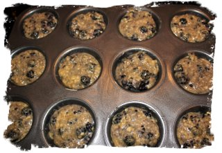 Blackberry muffins - waiting to be cooked