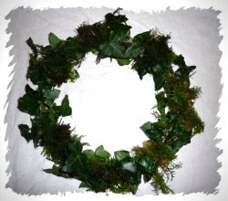 ivy ring crown with moss - base for a dragon winter crown made by a fairy