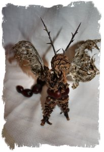 Conker crafts - a Forest Dragon made from faery-founds ©vcsinden2012
