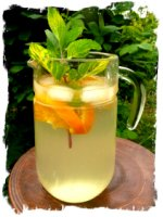 Elderflower cordial in jug ready for a summer day