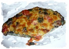 Slice of nettle frittata from hedgerow cookery at Eco-enchantments