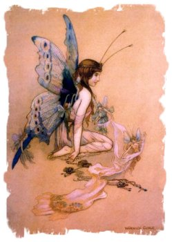 Warwick Goble - 'Dressing a Fairy'