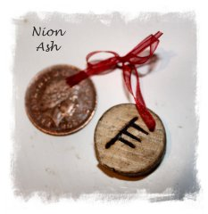 Ogham Yule Blessing - showing actual size ©vcsinden2013