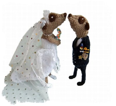 Niftyknits Royal Wedding Meerkats