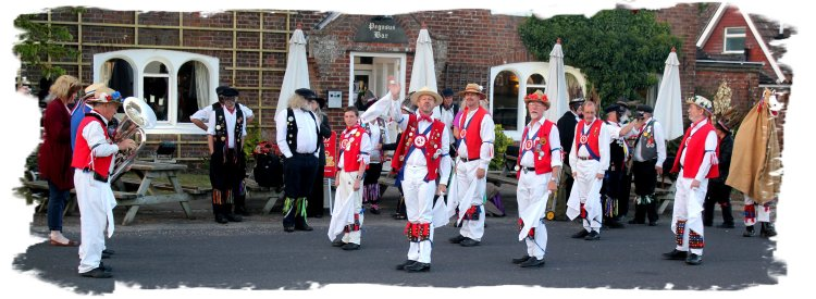 East Kent Morris men at Boughton Aluph