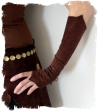 Fairy gloves - leather, from Vaisto, Finland