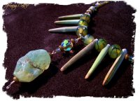 'Sea Green' agate and sea-urchin necklace from Spinning Castle