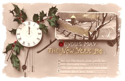 New Year's Eve Postcard from 1911