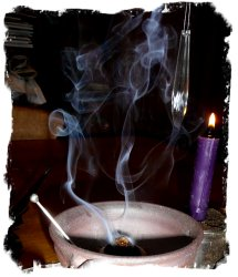 Summer Solstice - Litha ritual with incense