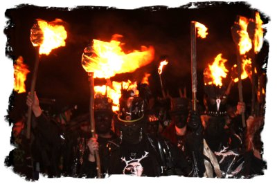 Hunters Moon Morris at Wassail near Lewes 2011